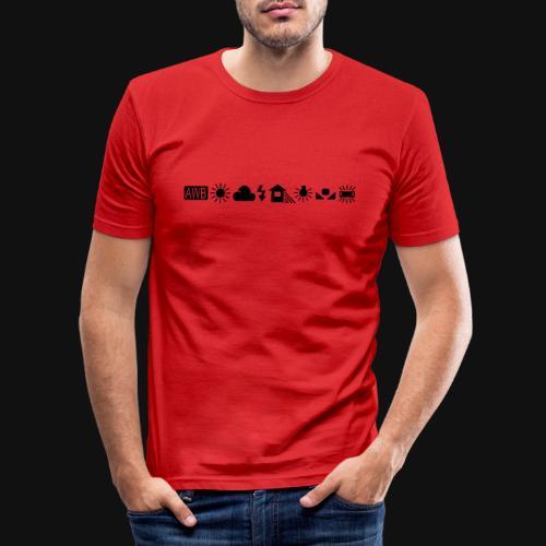 Weissabgleich Symbole Horizontal - Männer Slim Fit T-Shirt
