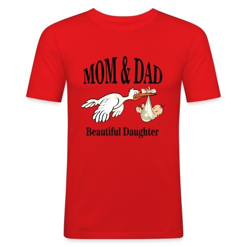 Beautiful Daughter Mom - Mannen slim fit T-shirt