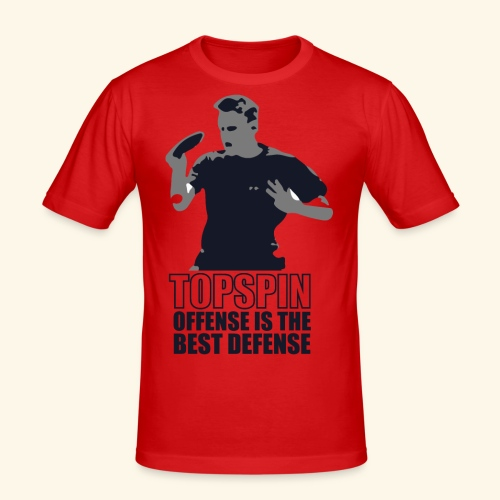 Good slashing serve table tennis - Männer Slim Fit T-Shirt
