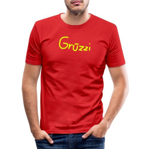 Grüzzi Handgeschrieben - Männer Slim Fit T-Shirt