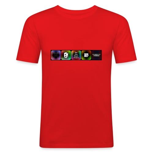 5 Logos - Men's Slim Fit T-Shirt