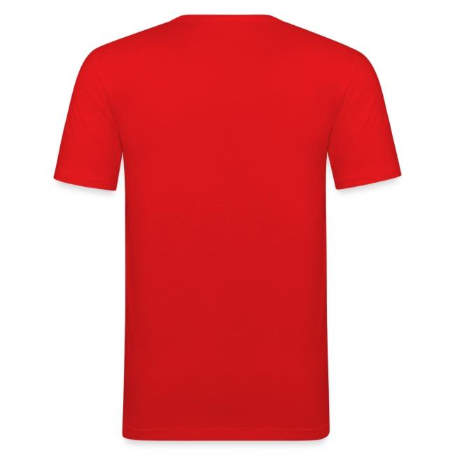 Vorschau: auf die kacke haun - Männer Slim Fit T-Shirt