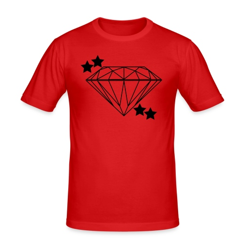 Diamant - Männer Slim Fit T-Shirt
