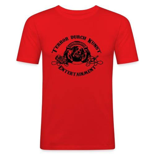 tdklogoschwarz 3 - Männer Slim Fit T-Shirt