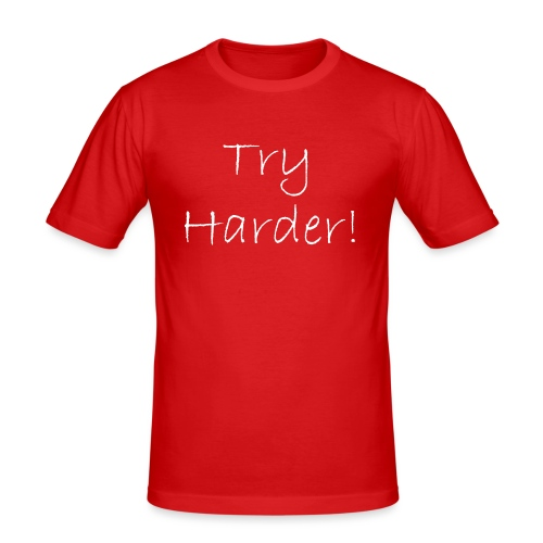 Try_Harder_W - Slim Fit T-shirt herr