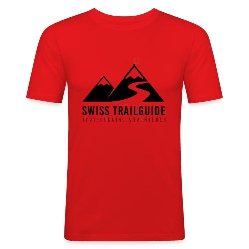Swiss Trailguide Logo - Männer Slim Fit T-Shirt
