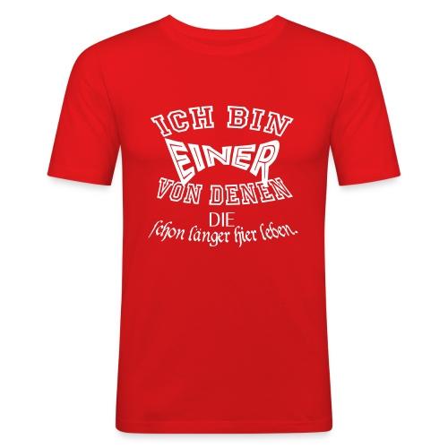 Einer von_02 - Männer Slim Fit T-Shirt