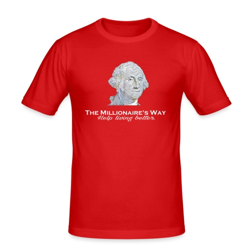 Il nostro logo in bianco - Maglietta aderente da uomo
