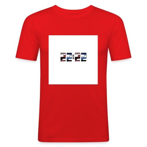 22:22 buttons - Mannen slim fit T-shirt