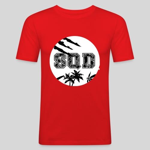 SQD tshirt logo wit - slim fit T-shirt