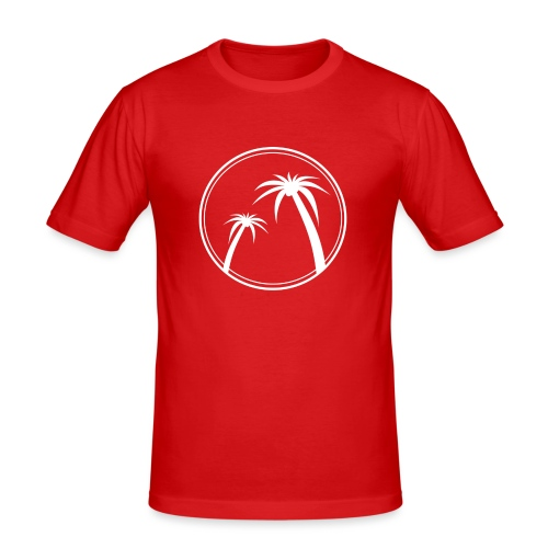 Palm Slabbetje - Mannen slim fit T-shirt