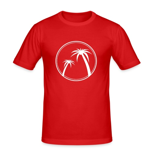 Palm Slabbetje - Mannen slim fit T-shirt
