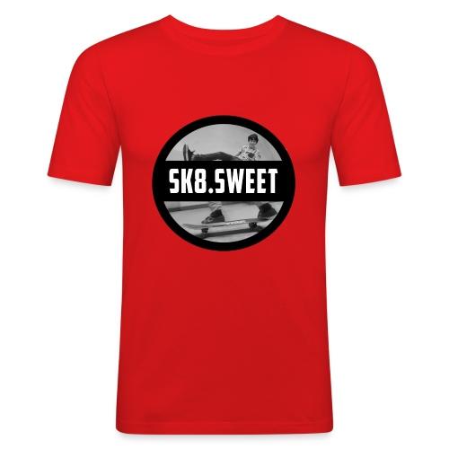 sk8 buttons - Mannen slim fit T-shirt