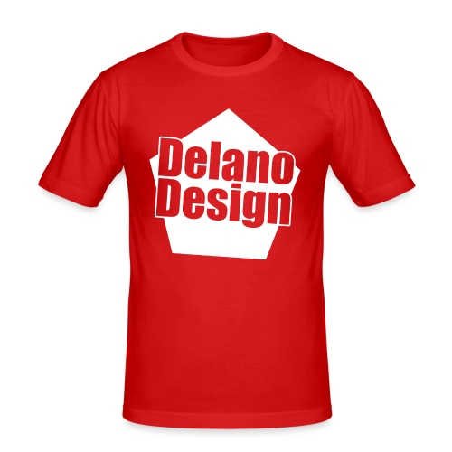 DelanoDesign - Logo Wit - Mannen slim fit T-shirt