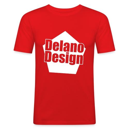 DelanoDesign - Logo Wit - Mannen slim fit T-shirt
