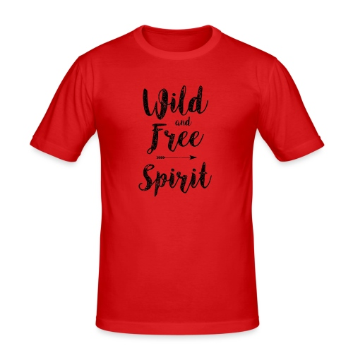 Wild-and-Free-Spirit - Men's Slim Fit T-Shirt