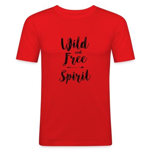 Wild-and-Free-Spirit - Men's Slim Fit T-Shirt