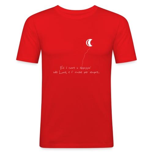 CUORE-E-LUNA - Maglietta aderente da uomo