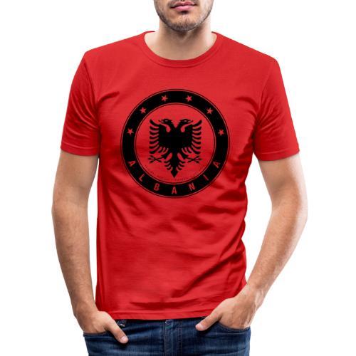 Patrioti Albania Black - Männer Slim Fit T-Shirt