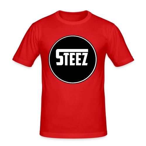 Steez logo white - slim fit T-shirt