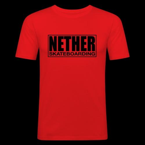 Nether Skateboarding T-shirt White - Maglietta aderente da uomo