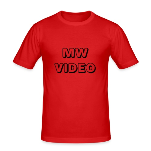mw video's cap - Mannen slim fit T-shirt