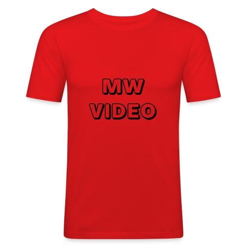 mw video's cap - Mannen slim fit T-shirt
