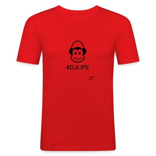 #DJLIFE - Mannen slim fit T-shirt