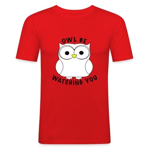 OWL BE WATCHING YOU - Men's Slim Fit T-Shirt