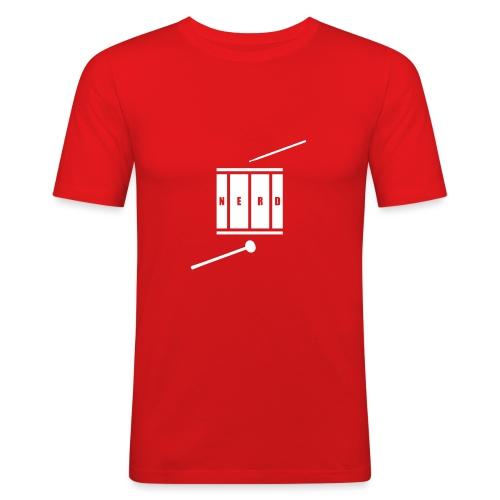 Nerd_Logo White - Herre Slim Fit T-Shirt