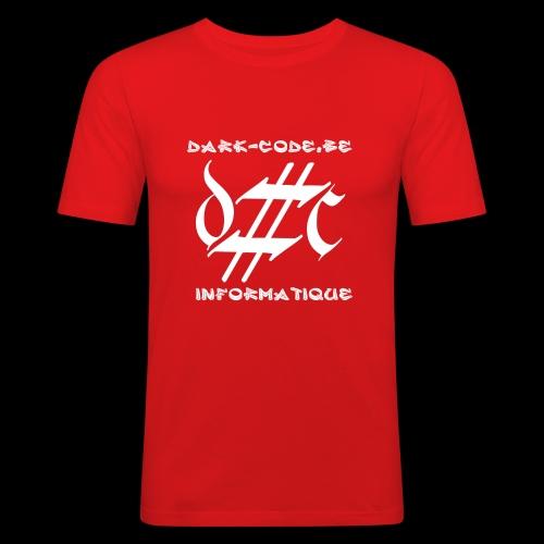 Dark-Code Gothic Logo - T-shirt près du corps Homme