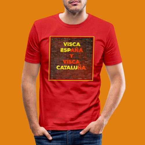 SPAIN AND CATALONIA - Men's Slim Fit T-Shirt