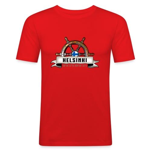 Helsinki Ruori - Merelliset tekstiilit ja lahjat - Miesten tyköistuva t-paita