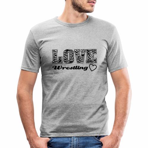 Black Love Wrestling - Männer Slim Fit T-Shirt