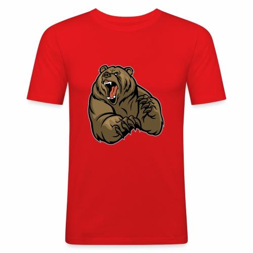 méchant grizzli - T-shirt près du corps Homme