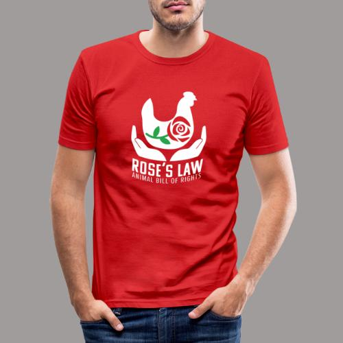 Roses Law Animal Bill of Rights Belgium - Mannen slim fit T-shirt