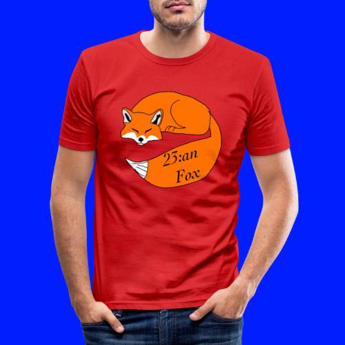 Sleeping Fox - Slim Fit T-shirt herr