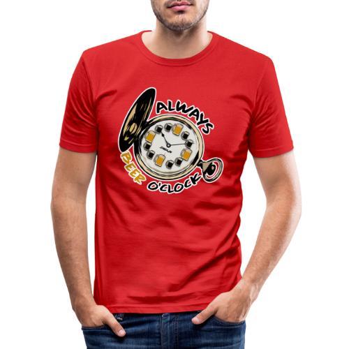 Always Beer O'clock - Mannen slim fit T-shirt