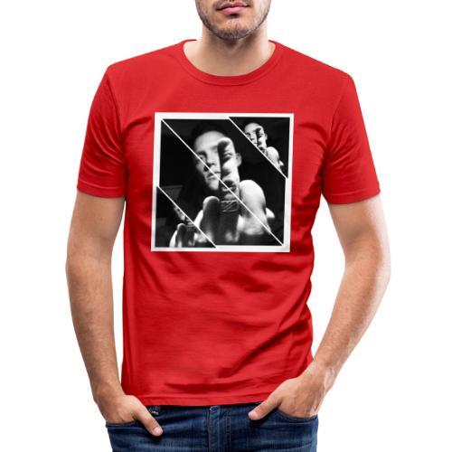 FU striped - Slim Fit T-shirt herr