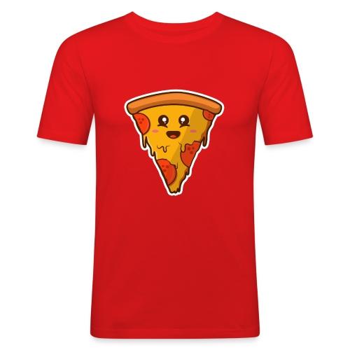 pizaa funny - Camiseta ajustada hombre