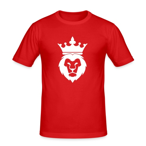 Lion_Logo_with_Crown_St--rre_bild_-white- - Slim Fit T-shirt herr