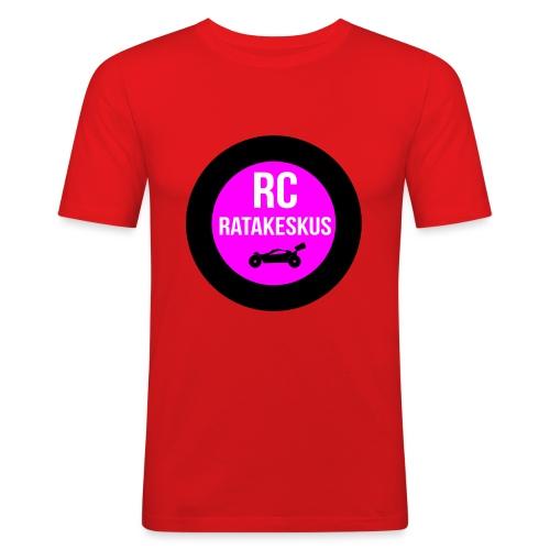 rc-ratakeskus kahvimuki - Miesten tyköistuva t-paita