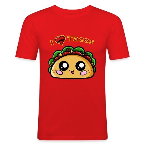 I Love Tacos - T-shirt près du corps Homme
