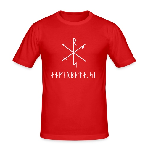 Angerboda logo med bindruna - Slim Fit T-shirt herr