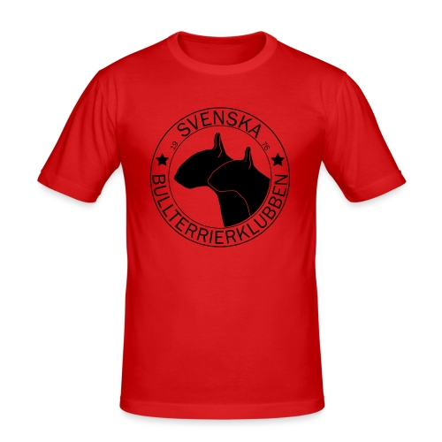Stor svart SvBtk logga - Slim Fit T-shirt herr