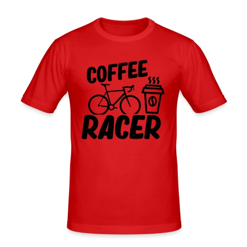 Coffee Racer - Männer Slim Fit T-Shirt