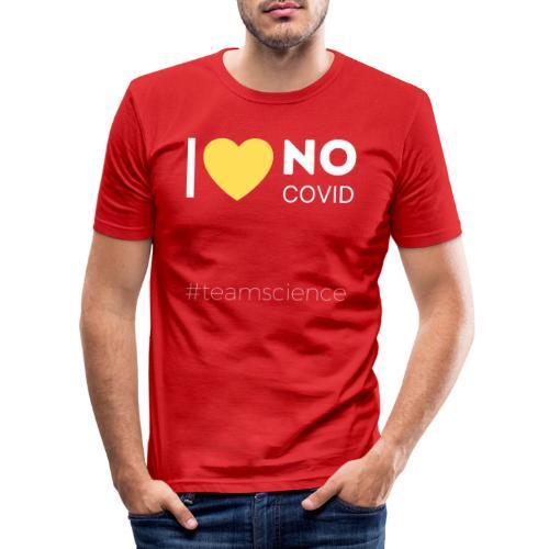 Schrift weiss III - Männer Slim Fit T-Shirt