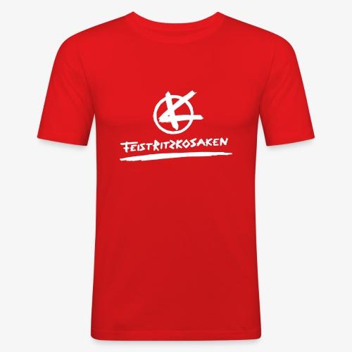 Feistritzkosaken Logo hell - Männer Slim Fit T-Shirt