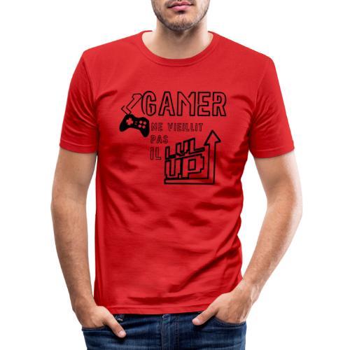 Gameur Manette Black - T-shirt près du corps Homme