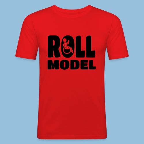 Roll model 016 - Mannen slim fit T-shirt